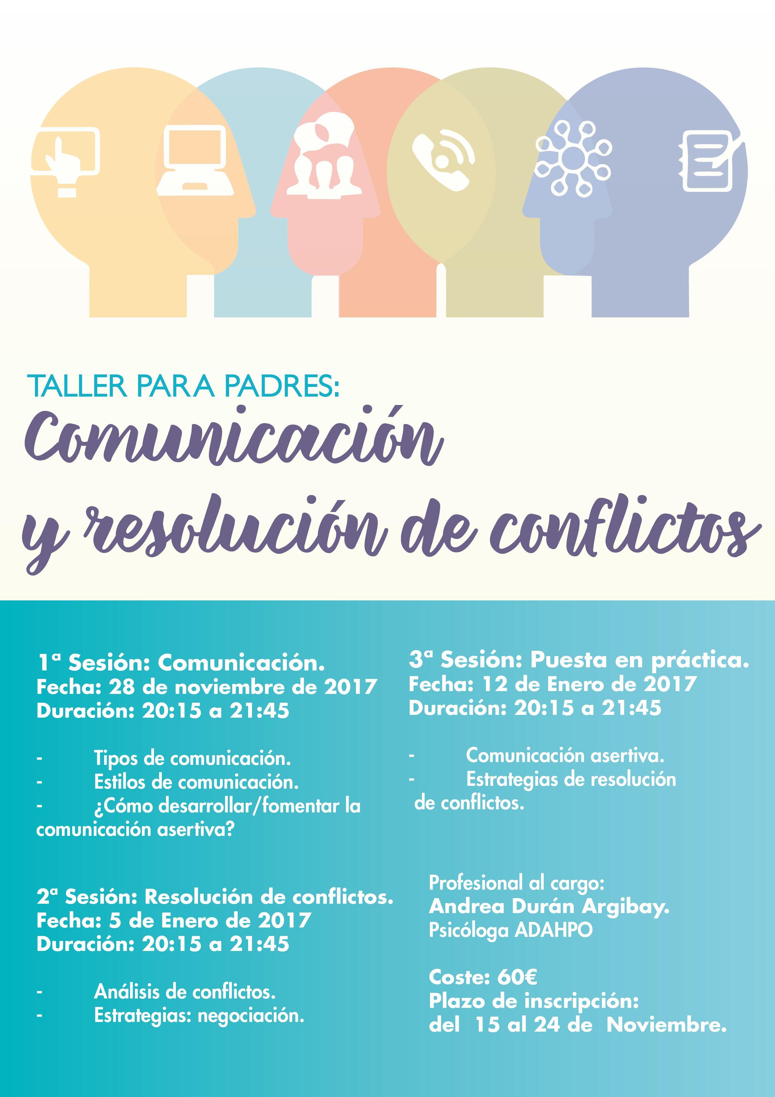taller comunicación y resolución de conflictos